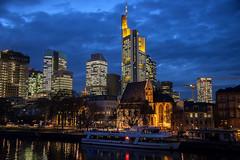 Frankfurt Skyline (globetrekimages) Tags: germany frankfurt skyscraper skyline building architecture bluehour tower cityscape city