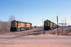 A Dusty Spring Day (ac1756) Tags: northwestern cnw chicagonorthwestern alco c628 6707 6720 oredock wells michigan