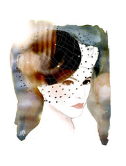 Black-Beesmith-by-laura-mossop (LauraMossop) Tags: classic hat fashion illustration design hollywood timeless millinery chici beesmith