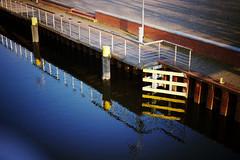 Dominium terrae (Time.Captured.) Tags: bridge water fence wasser pavement kanal ufer zaun reflexions mauer pflaster hff brücke happyfencefriday nex7