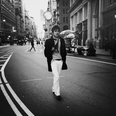 Not Bob Dylan (Joel Levin Photography) Tags: street nyc newyorkcity urban blackandwhite bw usa newyork square eyecontact manhattan candid streetphotography squareformat allrightsreserved blackdiamond newyorklife iphone mobilephotography thedefiningtouch iphoneography deftouch editedanduploadedoniphone ©joellevin definingtouchgroup