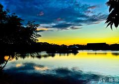 Sunset (娜 娜☂Nana) Tags: life light sunset sky lake love beautiful clouds nikon colorful natural taiwan 台灣 台灣taiwan i 我愛台灣 d7000