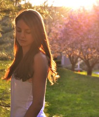 (*amanda lynn) Tags: trees light sunset sun girl sunshine self nikon pretty day picnik