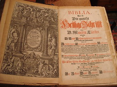 "17th Century German Bible • <a style=""font-size:0.8em;"" href=""http://www.flickr.com/photos/51721355@N02/7145847191/"" target=""_blank"">View on Flickr</a>"