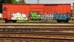 TERMS JEDI SKEME GREK (BLACK VOMIT) Tags: car train graffiti box jedi boxcar freight terms grek skeme
