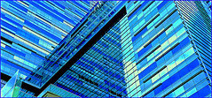 "Geometric Reflections in Blue (NaturaLite's ""SnapDecisions"") Tags: california leica reflection hotel la losangeles ritzcarlton sincity jwmarriott photogene dlux4"