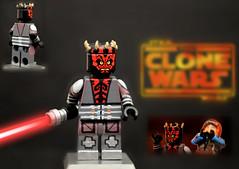 LEGO Star Wars : The Clone Wars - Darth Maul (Season 5 Outfit) (MGF Customs/Reviews) Tags: dave season star sam lego 5 five vizsla pre darth wars clone maul savage the deathwatch opress filoni mandalore witwer bokatan