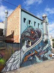 Putos & Knock...Fitzroy... (colourourcity) Tags: streetart graffiti awesome murals melbourne panels vulture graff dope aerosol putos skeksis offthehook streetartmelbourne burncity flickrandroidapp:filter=none colourourcity putospaint
