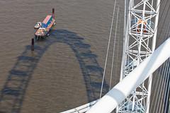 London Eye (:: edgar 37 :: 1.8 Million + views :: THANKS !!) Tags: greatbritain england sun london water wheel thames canon londoneye bluesky sunnyday ef70200mmf4lisusm canoneosd canoneos5dmarkii
