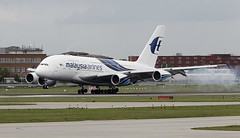A380_Malaysia_Heathrow (mikhail_serbin) Tags: airplane airport heathrow landing planes airbus a380 spotting airliners