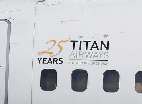 G-ZAPZ Titan Airways 25 years