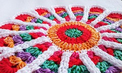 Vintage Flower Potholder (Olga Soleil) Tags: home bright crochet crochetpotholder
