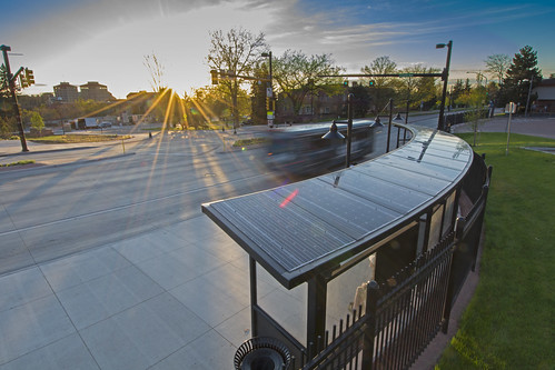 Photo - Solar Roof on the Broadway Bus Stop Shelter
