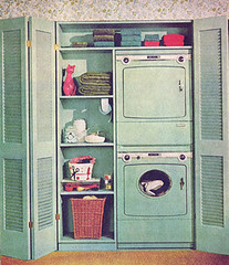 Creative Laundry (obsequies) Tags: blue home vintage closet magazine ads scans colorful aqua turquoise ad creative style 1966 retro laundry 1960s february decor spaces appliances betterhomesandgardens