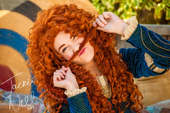 Mustached Merida (jackoraptor) Tags: disneyland disney merida pixar brave fantasyland disneyprincess facecharacter smallworldmall princessmerida