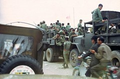 ARVN 7th Division troops (Gene Whitmer) Tags: ferry army trucks division 7th troops dt
