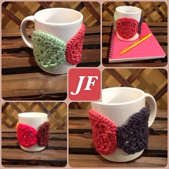 Crochet cup cozy (just felt) Tags: cute cup design bahrain cozy nice handmade crochet mug lovely