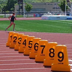 Running By The Numbers (DewCon) Tags: running runner trackandfield