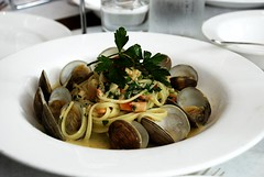 Clam Linguini (prictese) Tags: food french la los yummy italian downtown angeles pasta seafood louie clams bottega liguini