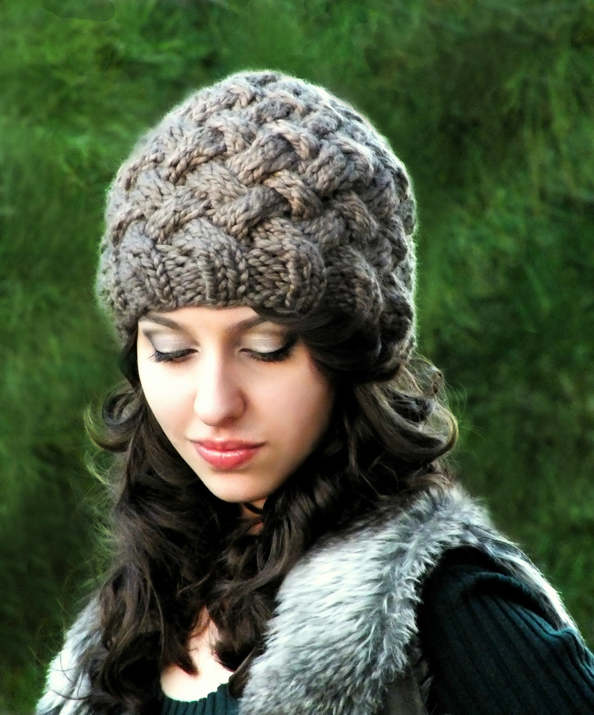 The worlds best photos of entrelac and hat flickr hive mind basketweave hat in taupe 3 creatiknit tags winter woman fall bankloansurffo Choice Image