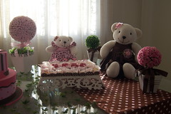 Decorao Marrom e rosa ursas (Decoraes JB) Tags: de rosa e bebe festa decorao marrom ch ursas