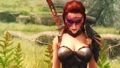 Auriel and Ionia (modd3r86) Tags: woman green nature water landscape redhead fantasy rpg vegetation tes5 skyrim