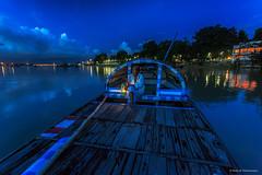 The City of Joy in the Blue Hour (Neha & Chittaranjan Desai) Tags: blue boat twilight hour neha kolkata ganga desai ghat outram hooghly chittaranjan
