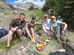 lunch at Gunsight Pass (jcoutside) Tags: montana backpacking glaciernationalpark