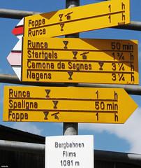 20130728_02 ''Runka'' is Swedish for ''jerk off''. *GIGGLESNORTZ* | Flims, Switzerland (ratexla) Tags: travel summer vacation mountain holiday signs mountains alps travelling berg sign yellow schweiz switzerland funny europe hiking earth path lol humor dirty trail backpacking journey info haha innuendo traveling thealps information epic interrail flims stig semester 1000views interrailing wanderweg tellus jerkoff eurail tågluff alperna 2013 runca europaeuropean tågluffning runka tågluffa eurailing photophotospicturepicturesimageimagesfotofotonbildbilder canonpowershotsx40hs resaresor tågresatågresor 28jul2013 ratexlasinterrailtrip2013