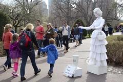 Street Artist (Read2me) Tags: she park woman white garden makeup streetartist performer bostongarden cye gamewinner thechallengefactory pregamewinner