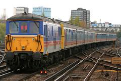 73109, Clapham Junction, April 16th 2005 (Southsea_Matt) Tags: station train railway cig southwesttrains basingstoke vep londonwaterloo class73 73109 dieselelctriclocomotive