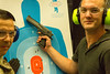 The results of my Desert Eagle shooting (jimmyharris) Tags: pistol target gunrange deserteagle jamesharris battlefieldvegas