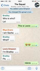 Having a group chat 😂 (sachaceriburt) Tags: friends media idiots weirdos texts