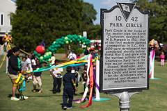 Children's Festival at Park Circle (North Charleston) Tags: art kids children marker historical ribbon recreation maypole parkcircle culturalarts childrensfestival felixdavis
