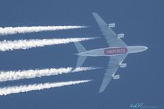 A6-EOC A380-861 Emirates (kw2p) Tags: scotland airport unitedkingdom aircraft aviation emirates airline airbus gb prestwick prestwickairport overflight egpk a380861 cn165 egpkpik a6eoc