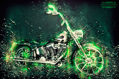 green-rocksweb (simages photography) Tags: green bike composite explosion funky motorbike custombike canon600d