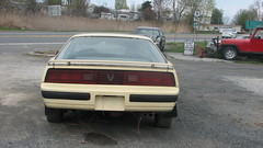 MID 80's FIREBIRD (richie 59) Tags: auto trees usa ny newyork cars car america outside us spring highway parkinglot rust automobile gm unitedstates weekend garage sunday rusty vehicles rusted firebird vehicle trucks newyorkstate pontiac autos oldcar automobiles taillights nys rustycar backend nystate rustyoldcar generalmotors rt9 hudsonvalley yellowcar 2door americancar 2015 motorvehicles route9 twodoor motorvehicle fbody columbiacounty autorepairshop pontiacfirebird uscar columbiacountyny usroute9 oldrustycar ushighway gmcar oldpontiac 2010s oldcoupe 1980scar americancoupe richie59 rustypontiac may2015 fbodyfirebird may32015 rustyfirebird