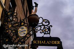 Schalander - Pub (Bernsteindrache7) Tags: autumn sony alpha 100 sky color city heaven himmel clouds landscape outdoor pub dsseldorf germany nrw