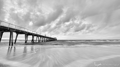 2016 - Landscape - Sunset - Largs - 09_10_07 - BW.jpg (stevenlazar) Tags: largs beach landscape sunset australia 2016 adelaide jetty ocean southaustralia clouds