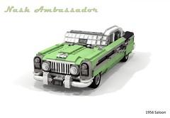 Nash Ambassador 1956 Sedan (lego911) Tags: nash ambassador 1956 sedan saloon 1950s classic v8 usa america auto car moc model miniland lego lego911 ldd render cad povray tritone luxury independent lugnuts challenge 107 saturdaymorningshownshine saturday morning show n shine foitsop
