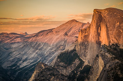 Half Dome turning red (Ettore Trevisiol) Tags: ettore trevisiol nikon d300 nikkor 18 70 yosemite national park half dome golden hour