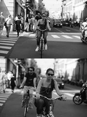 [La Mia Citt][Pedala] (Urca) Tags: milano italia 2016 bicicletta pedalare ciclista ritrattostradale portrait dittico nikondigitale mir bike bicycle biancoenero blackandwhite bn bw 89853