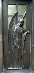 Metallic Angel Door (VinayakH) Tags: tombs tomb recoletacemetery recoleta larecoletacemetery cemetery buenosaires graves argentina latinamerica southamerica mausoleum artnouveau artdeco neogothic baroque architecture