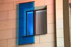 Blue filter (Pascal Volk) Tags: berlin nacht night andels hotel fennpfuhl landsbergerallee106 berlinlichtenberg fenster window 236mm blau canoneos6d canonef70300mmf456lisusm