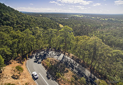 N1 attacks the curves. (God_speed) Tags: nissan skyline r32 gtr vspec n1 white godzilla nismo twisties outdoor racing drive road trip journey hairpin roads turn uturn bush australia new south wales nsw hawkesbury heights springwood dji drone phantom phantom3 professional aerial photography