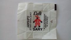 Sary 01 (periglycophile) Tags: priglycophilie sucrology sugar packet sucre morceaux cube caf sary saint nazaire