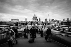 St. Pauls (@^ ^@ elias) Tags: fuji bw blackwhite monochrome   england uk london   stpaul cathedral millennium
