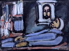 IMG_8268VC Georges Rouault. 1871-1958.  Paris.  De profundis. 1939.   Colmar  Unterlinden. (jean louis mazieres) Tags: peintres peintures painting muse museum museo france colmar museunterlinden georgesrouault