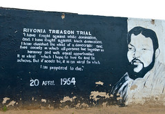 Rivonia treason trial (Francisco Anzola) Tags: johannesburg gauteng southafrica joburg soweto township wall painting mandela quote liberalism apartheid