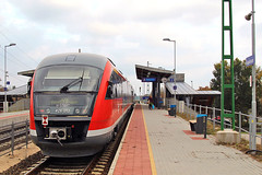 National railway operator (MAV) passenger service departing Aquincum felso Halting (Albert Lugosi) Tags: acquincum budapest hungary mav desiro acquincumfelso